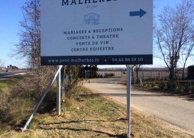 PANNEAU 4X3 M DOMAINE DE MALHERBES