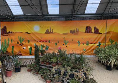 bache grand format deco tropic plantes